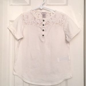 Forever 21 Off-White Kids Lace T-Shirt